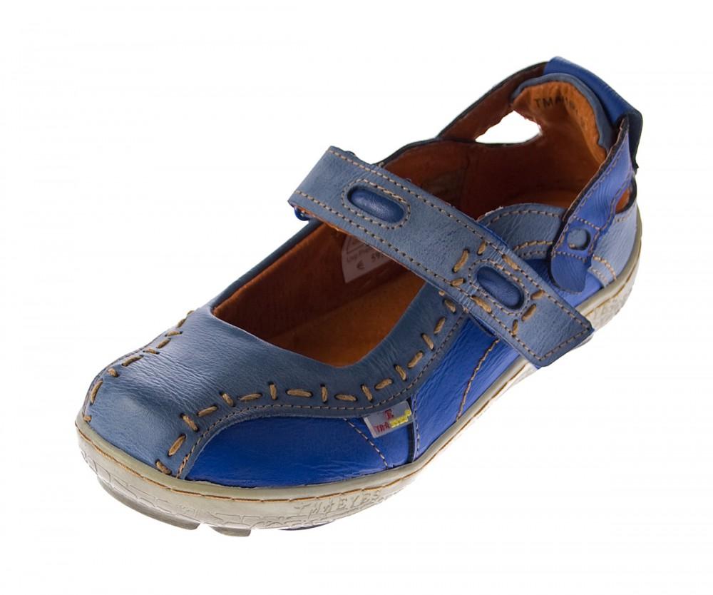 damen leder ballerina schuhe tma eyes 1601 sandalen blau. Black Bedroom Furniture Sets. Home Design Ideas