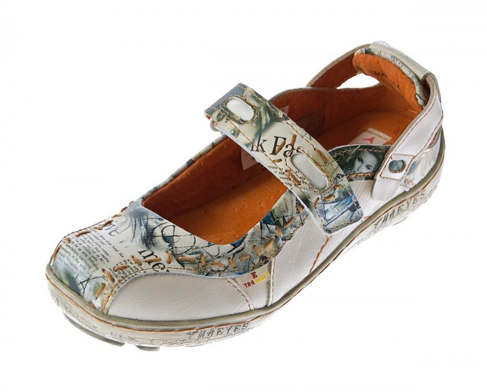 damen leder ballerina schuhe tma eyes 1601 sandalen blau gr 36 42 ebay. Black Bedroom Furniture Sets. Home Design Ideas