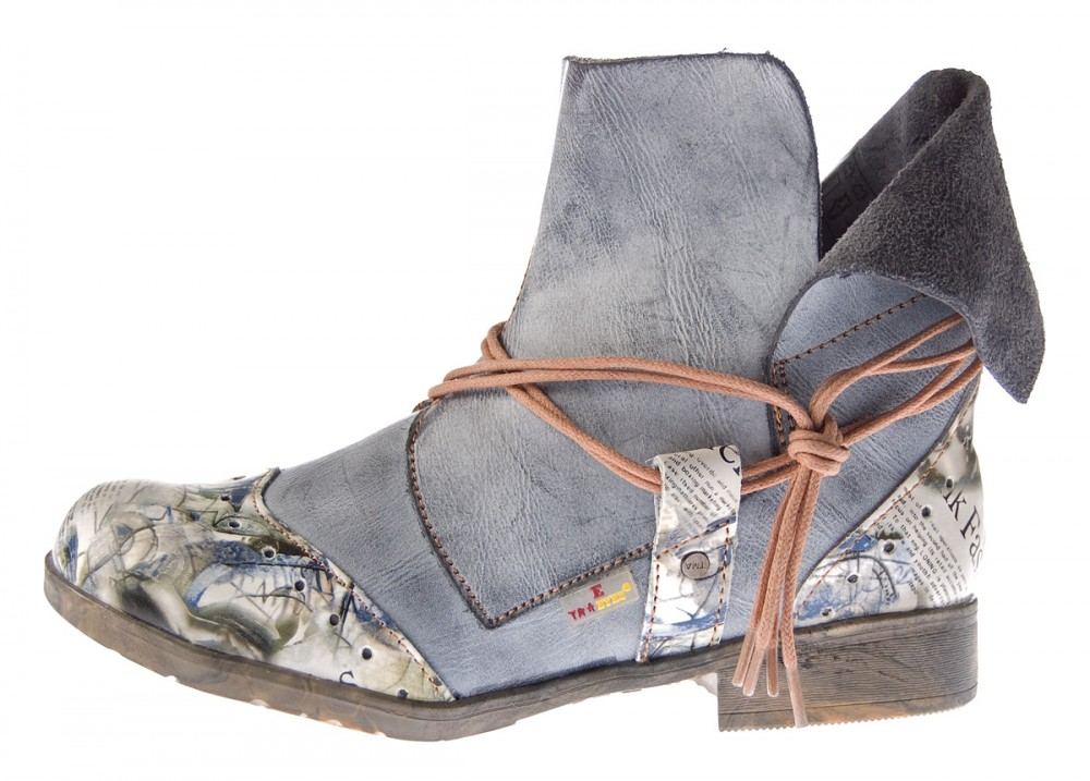 damen comfort leder stiefeletten tma 5161 boots schwarz grau wei kn chel schuhe. Black Bedroom Furniture Sets. Home Design Ideas