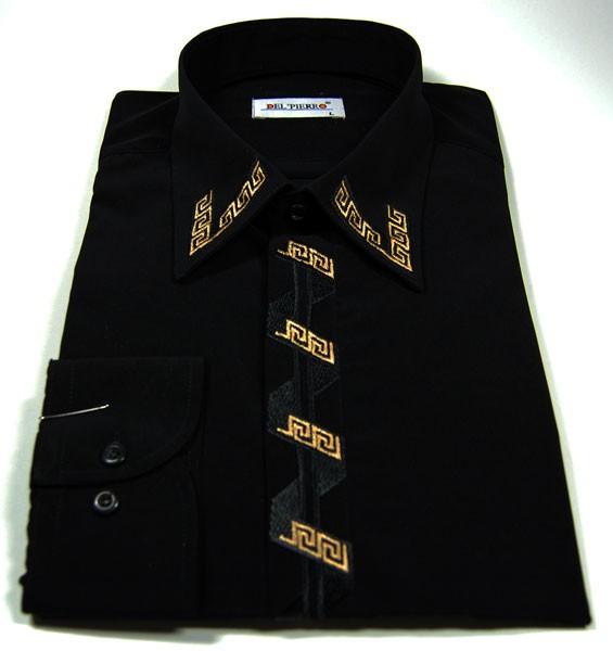 pin herren hemd mit trendy motiv wei schwarz mit blau hemden. Black Bedroom Furniture Sets. Home Design Ideas