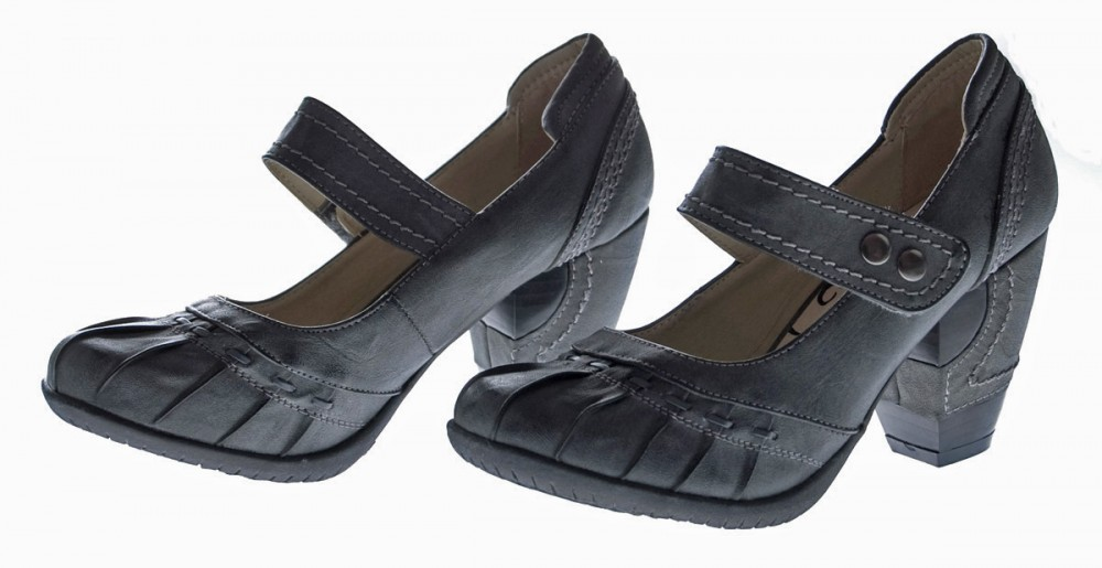 leder damen pumps schuhe beige schwarz grau clogs absatz ebay. Black Bedroom Furniture Sets. Home Design Ideas