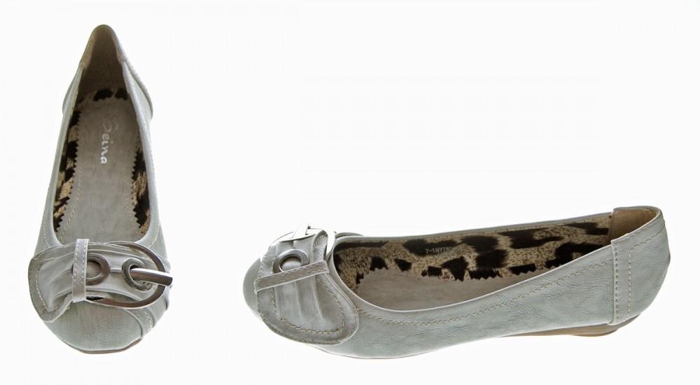 damen ballerinas schuhe flach wei grau braun pumps ballerina pumps ebay. Black Bedroom Furniture Sets. Home Design Ideas
