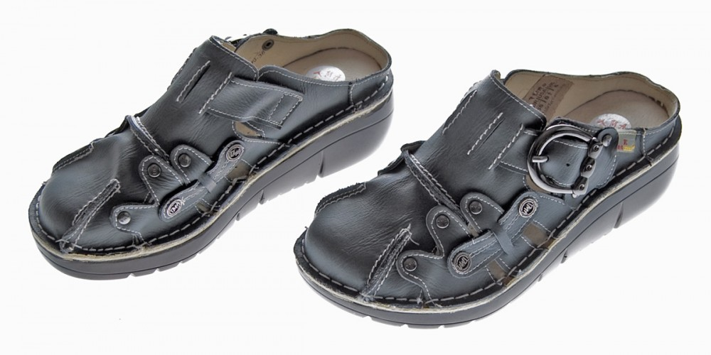 damen leder clogs tma schuhe slipper echt leder comfort sandalen ebay. Black Bedroom Furniture Sets. Home Design Ideas