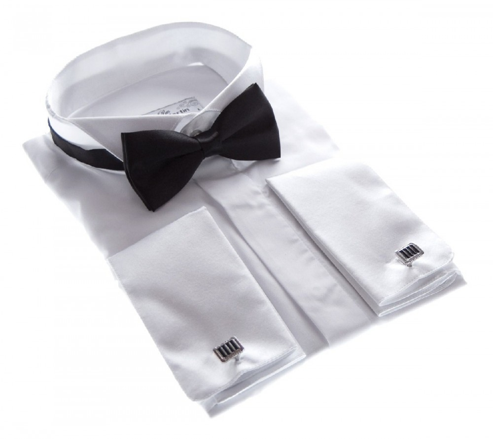 designer herren hemd smokinghemd wei fliege schwarz. Black Bedroom Furniture Sets. Home Design Ideas