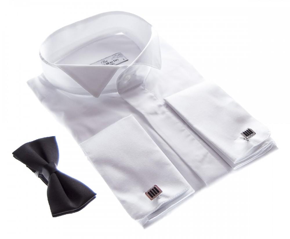 hochzeit smokinghemd herren hemd wei fliege smoking kragen hochzeitshemd ebay. Black Bedroom Furniture Sets. Home Design Ideas