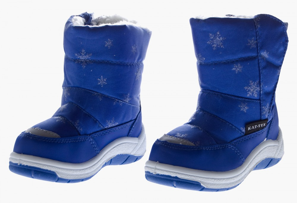 Kinder-Stiefel-Winter-Schnee-Schuhe-gefuettert-Boots-Outdoor-Blau-Pink ...