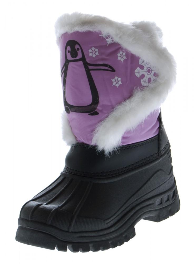 kinder stiefel blau schwarz jungen pink m dchen winter schnee schuhe gef ttert ebay. Black Bedroom Furniture Sets. Home Design Ideas