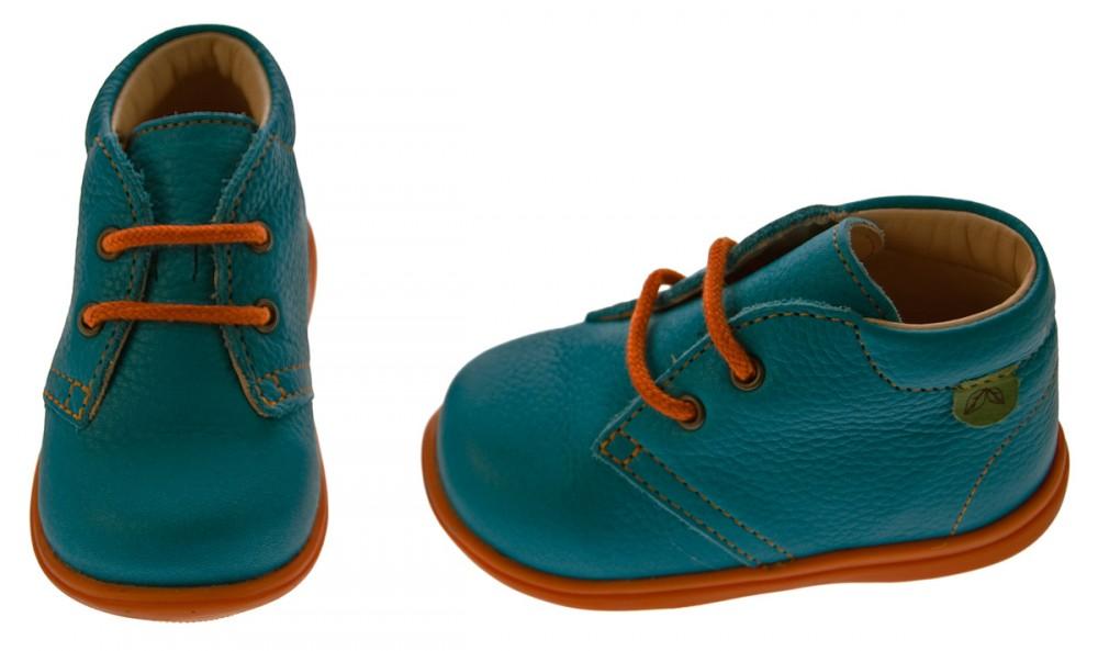 kinder leder halbschuhe t rkis blau orange baby schuhe. Black Bedroom Furniture Sets. Home Design Ideas