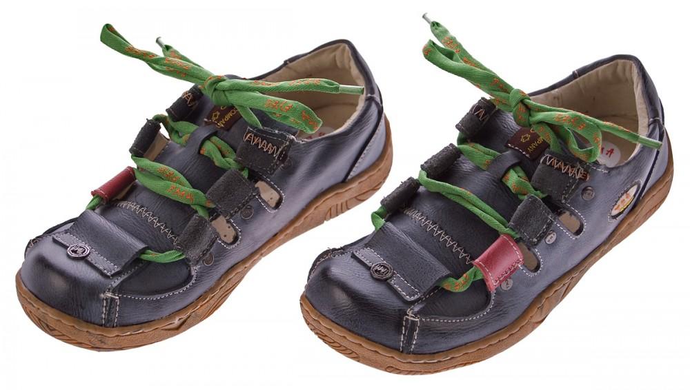 Leder-Schuhe-Damen-Halbschuhe-Sandaletten-Schnuersenkel-Bunt-Used-Look-TMA-Eyes Indexbild 2