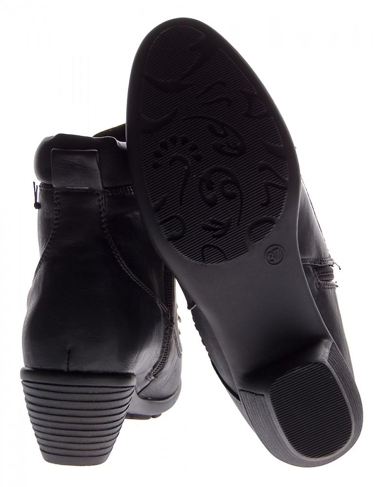 Damen Stiefeletten Schwarz Schuhe Stiefel Pumps Knöchelschuhe ...