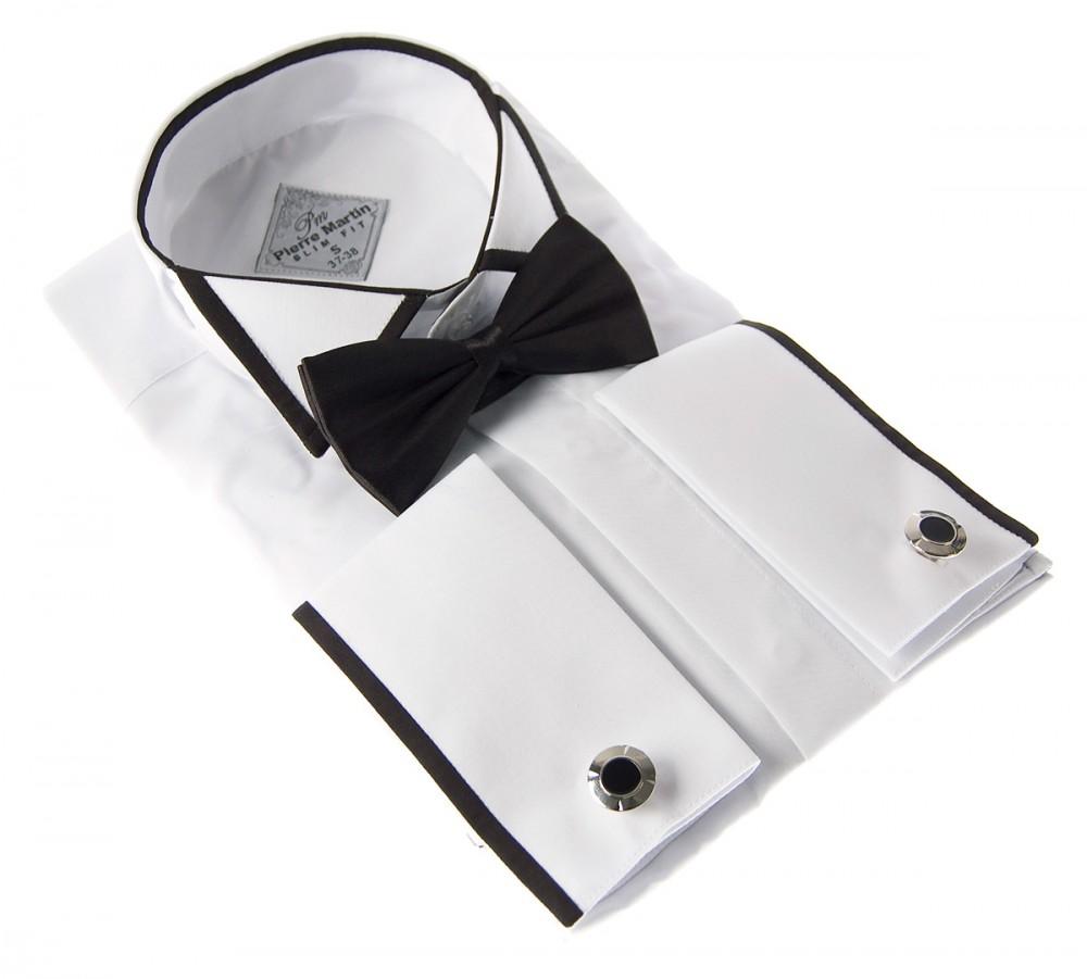 hochzeitshemd smoking hemd wei fliege schwarz slimfit. Black Bedroom Furniture Sets. Home Design Ideas