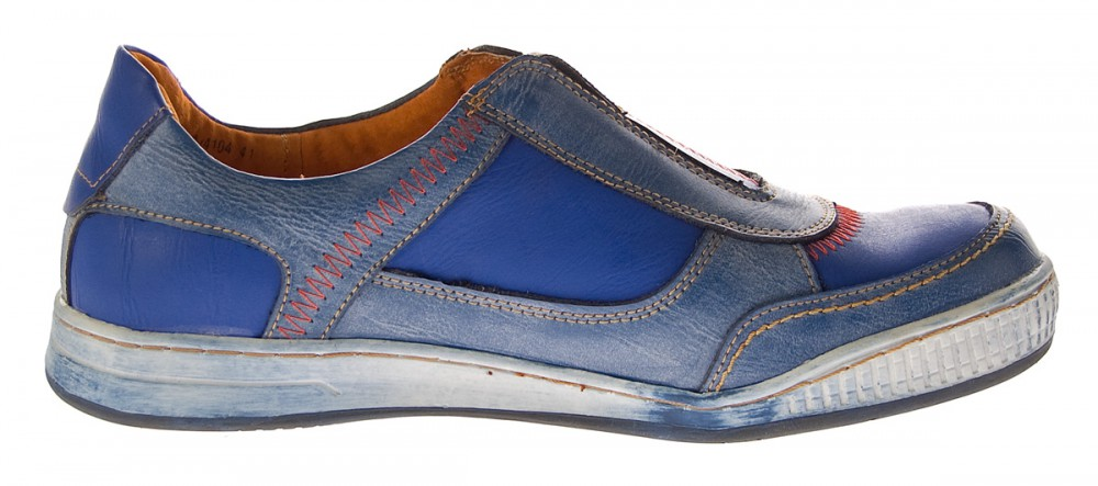 herren leder halb schuhe sneaker blau slipper sportschuhe tma 4104 used look ebay. Black Bedroom Furniture Sets. Home Design Ideas