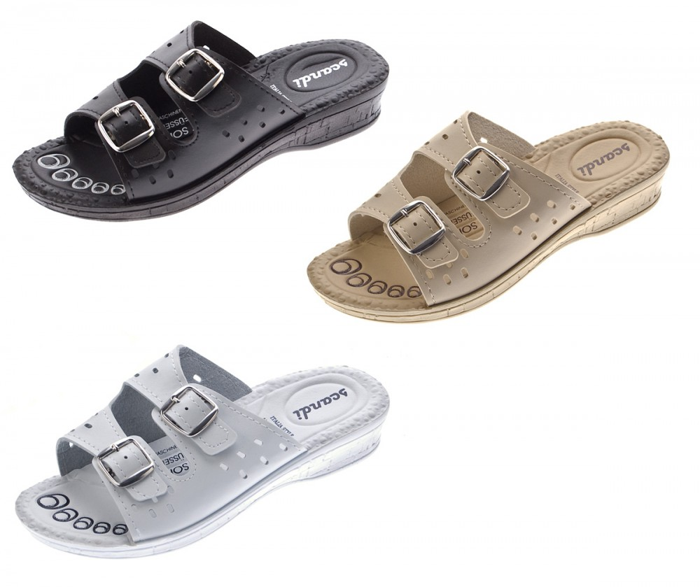 damen pantoletten schwarz wei beige clogs komfort soft fu bett latschen schuhe sandalette gr. Black Bedroom Furniture Sets. Home Design Ideas