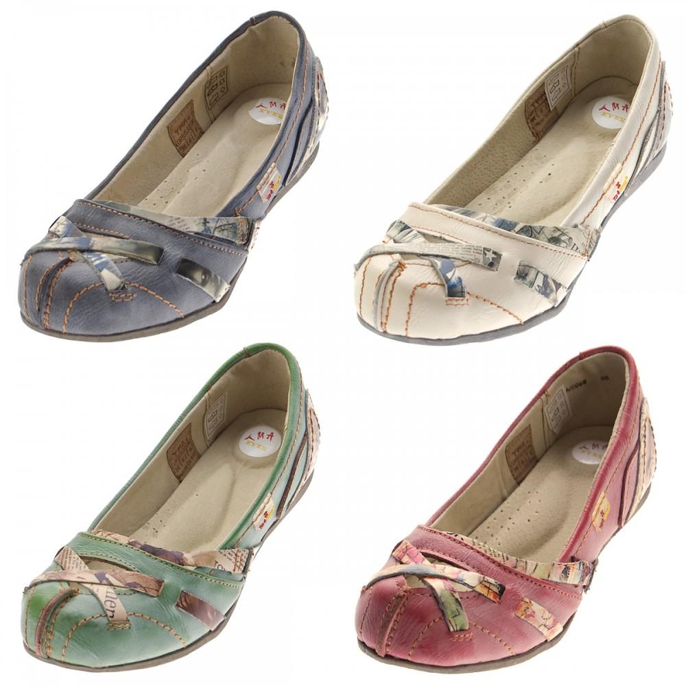 tma leder damen ballerinas echtleder sandalen comfort schuhe tma 5088 slipper bunt gr 36 42. Black Bedroom Furniture Sets. Home Design Ideas