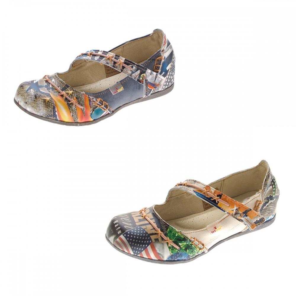 tma leder damen ballerinas echtleder comfort schuhe 5085 sandalen bunt g 36 42 ebay. Black Bedroom Furniture Sets. Home Design Ideas
