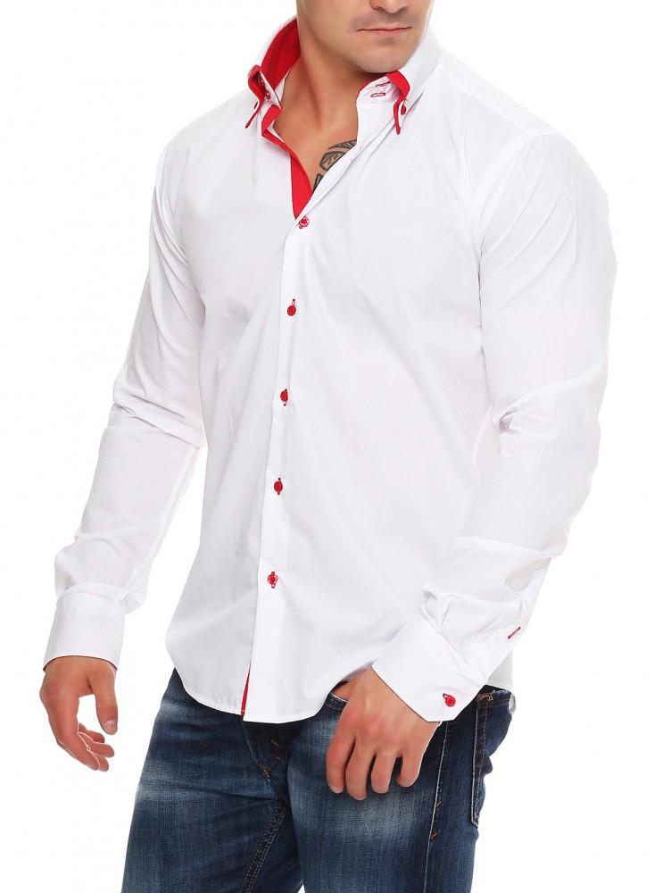 herren designer hemd tailliert 2 kragen herrenhemd slim fit b gelfrei neu m xxl ebay. Black Bedroom Furniture Sets. Home Design Ideas