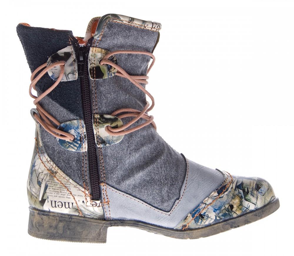 damen leder winter stiefeletten comfort boots tma 5061 kn chel schuhe gef ttert. Black Bedroom Furniture Sets. Home Design Ideas
