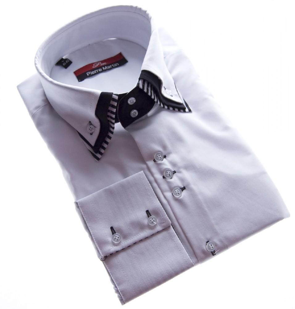 designer herren hemd klassischer 3 kragen 2 knopf. Black Bedroom Furniture Sets. Home Design Ideas