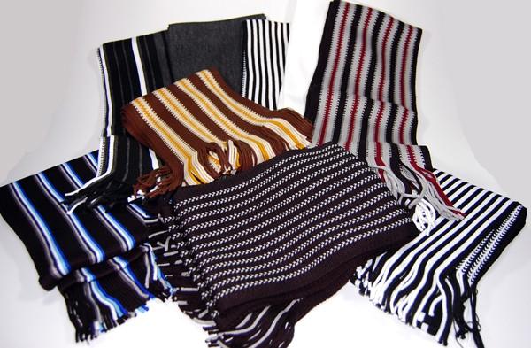 schal wolle herren o damen schwarz wei grau braun gestreift wollschal zum anzug hemd shirt. Black Bedroom Furniture Sets. Home Design Ideas