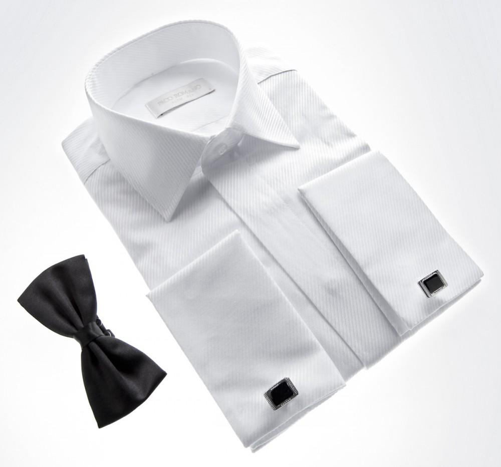 smoking designer hemd mit schwarzer fliege slim fit. Black Bedroom Furniture Sets. Home Design Ideas