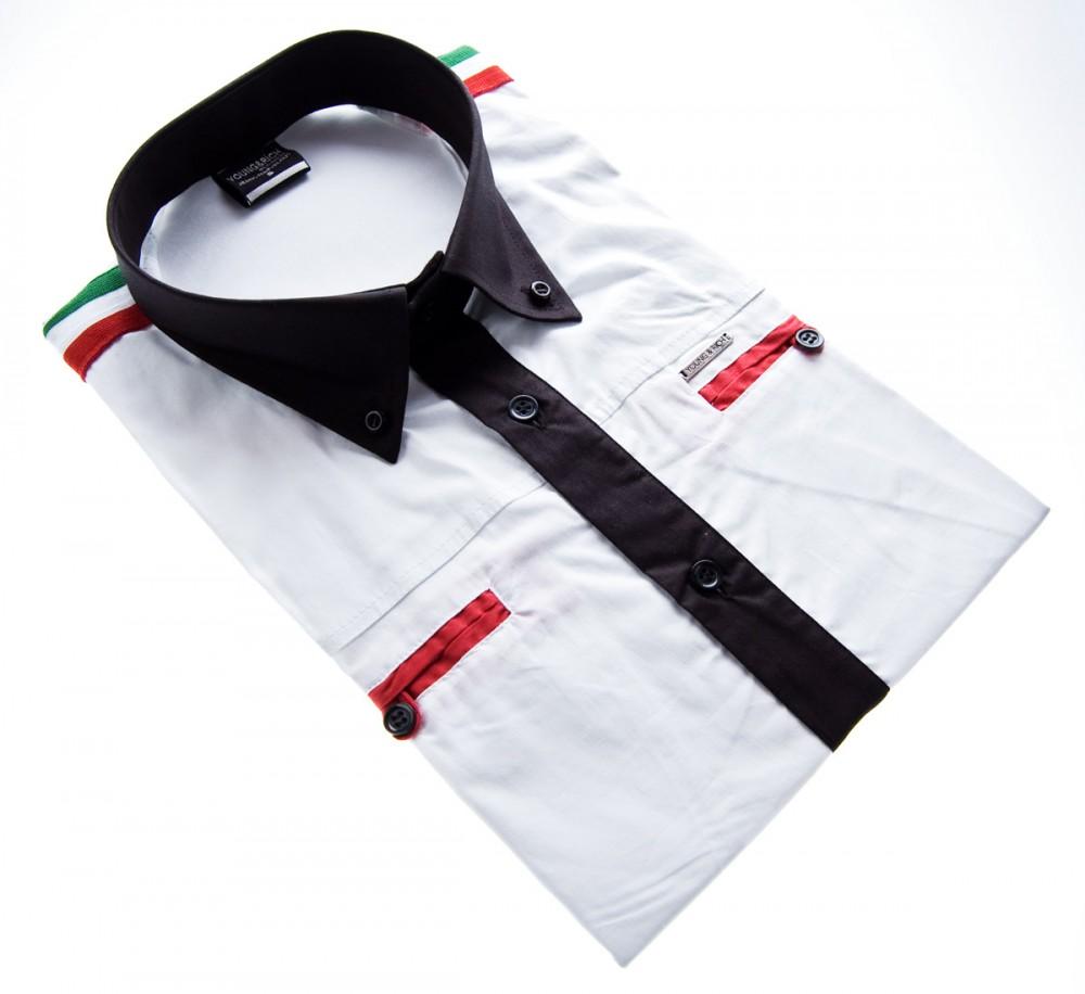 herren designer hemd kurzarm tailliert klassischer kragen. Black Bedroom Furniture Sets. Home Design Ideas