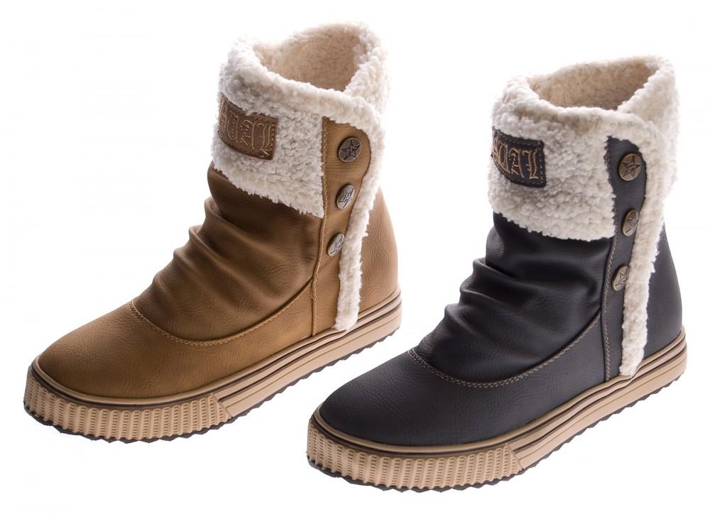 651f534bccc9 Stiefelparadies Chelsea Boots Damen Stiefeletten Leder-Optik Profilsohle  Booties Damen ... Winterboots Damen Stiefeletten Fell Warm Gefüttert 813006  Schuhe ...