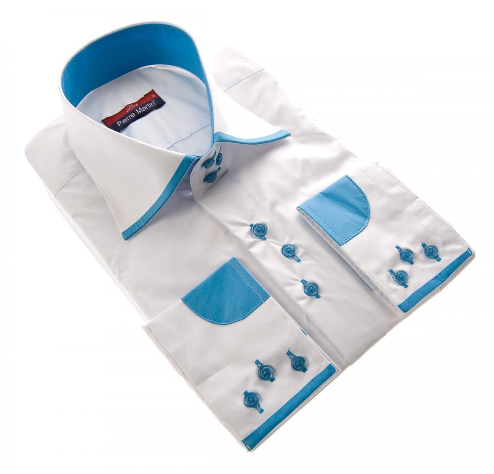 designer herren hemd kent kragen manschetten farbig slim. Black Bedroom Furniture Sets. Home Design Ideas